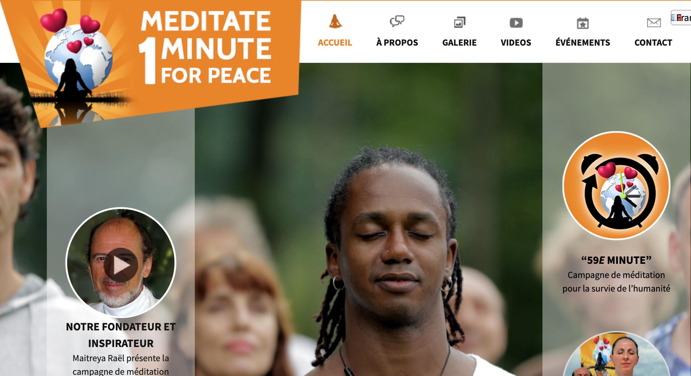 méditez 1 minute pour la paix